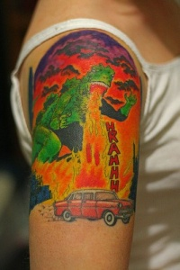 car engine tattoo picture