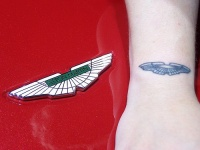 Aston martin logo tattoo